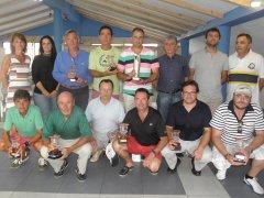 Eduardo Bedia, Jesús Raimundo Laiz, Juan Angel Valdés y David Bravo, vencedores del torneo absoluto Excmo. Ayto. Marina de Cudeyo