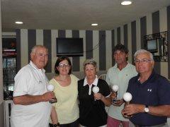 Se disputó el V puntuable de la liga seniors y damas, torneo Bustinza y Zubimendi
