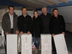El equipo formado por Jesús Castanedo, Antonio Calderón, Miugel Solar y Jesús Riva, vencedores del torneo de Navidad Barrios 4
