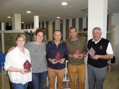 Lino Rodríguez y Netta Alonso, vencedores del II Puntuable del Ranking Seniors y Damas, torneo Trofeos Sport