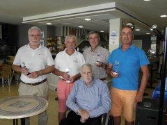Noé Bedia y Diego Bedia, vencedores del V puntuable Seniors y damas torneo Bustinza y Zubimendi
