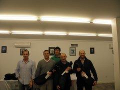 José R. Díez, Jesús Riva, Miguel Solar y Dámaso Trueba, vencedores del torneo Navidad - Barrios 4