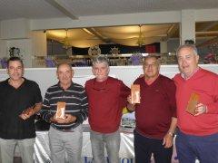 Jesús Riva, José Ramón Díez, Miguel Posada y Jesús Güemes, vencedores del torneo de Navidad