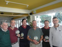 Diego Portilla y Agustín Bedia, vencedoes del X puntuable Seniors y Damas, torneo Sport 35