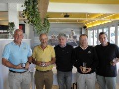 José Ramón Heres y Jesús Riva, vencedores del IX Puntuable de Seniors/Damas, torneo Restaurante Itxaski