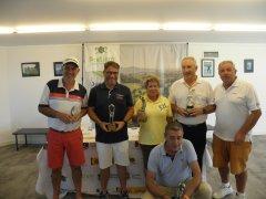 Jacinto Rodeño, Juan Angel San Sebastian y Jesús Güemes, vencedores del torneo Semana Marina de Cudeyo