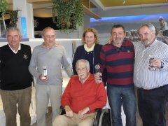 Teo Bedia y Victor González, vencedores del V puntuable de la liga Seniors y Damas de La Junquera 2019, torneo Bustinza y Zubimendi