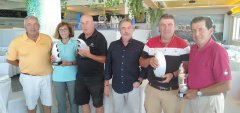 Nemesio Alonso y Alfonso Piris, vencedores del VI puntuable Seniors Damas, torneo Lara Norte
