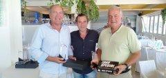 Noé Bedia y Jose Antonio Cuadrado vencedores del 7º puntuable seniors y damas, torneo Inmobiliaria Somoplaya