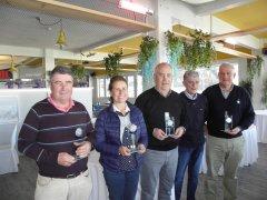 Nemesio Alonso y Maria Teresa Goñi, vencedores del II puntuable seniors y damas, torneo Excmo. Ayto. de Marina de Cudeyo